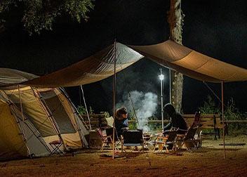 Kamperen met een tent
