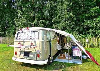 Retro camper - kamperen